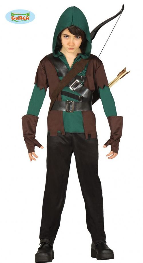 Kids Green Arrow Superhero Fancy Dress Costume for Boys Robin Hood Outfit
